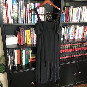 J. Crew Collection cold-shoulder silk dress